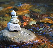 Cairn on Paradise River   by Zach Hawn