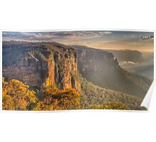 Of Rugged Mountain Ranges - GovettsLeap - The HDR  Experience Poster