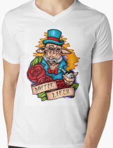 Dapper Ask Aak Mens V-Neck T-Shirt