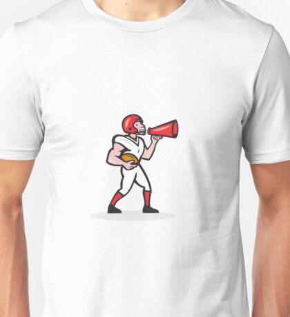 American Football Quarterback Bullhorn Isolated Cartoon Unisex T-Shirt