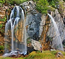 The double waterfalls of Souda by Hercules Milas