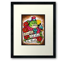 Gangster Jabba Framed Print