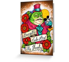 Gangster Jabba Greeting Card