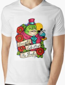 Gangster Jabba Mens V-Neck T-Shirt