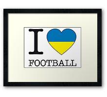 I ♥ UKRAINE Framed Print