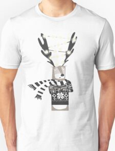 Christmas Bright Reindeer  T-Shirt