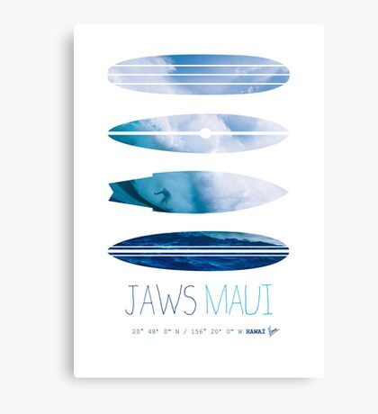 My Surfspots poster-1-Jaws-Maui Canvas Print