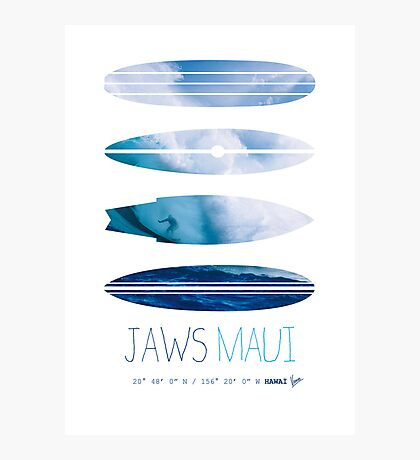 My Surfspots poster-1-Jaws-Maui Photographic Print
