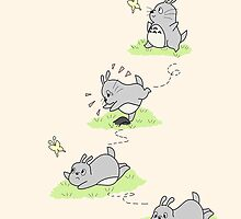 Totoro Chases a Butterfly!  by charsheee