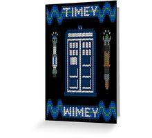 Timey-Wimey Xmas Greeting Card