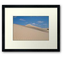 Dune climb Framed Print