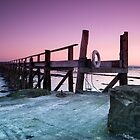 Culross old pier at sunset. by bfburke