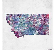 montana map cold colors Photographic Print