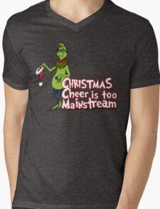 Hipster Grinch Mens V-Neck T-Shirt