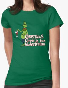 Hipster Grinch Womens Fitted T-Shirt