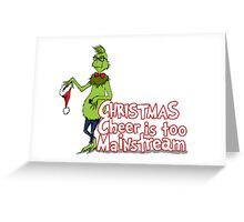 Hipster Grinch Greeting Card