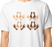 Love Making Feet Mixed Race Classic T-Shirt