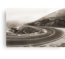 curvy road Canvas Print