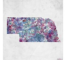 nebraska map cold colors Photographic Print