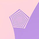 Pentagon Spiral in Pale Pink and Lavender by Objowl