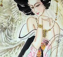 Geisha iPhone Case by PineSinger