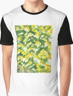 Fall Leaf Abstract Finger Painting  Graphic T-Shirt