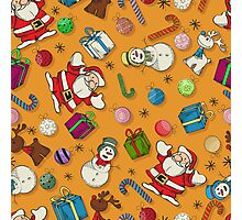 Seamless Christmas pattern design Photographic Print