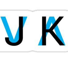 HJKL (Blue Arrows + No Text Transparency) Sticker