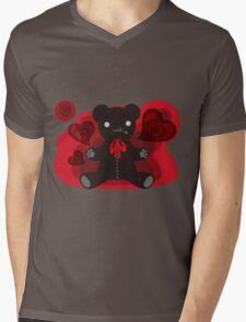 The stuffed toy of the bear Mens V-Neck T-Shirt