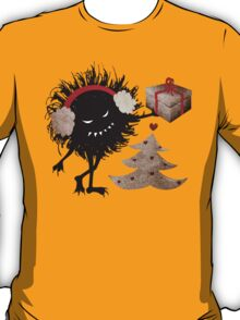 Evil Character Gives Christmas Present T-Shirt