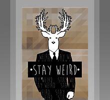 •stay weird• deer by Alexander Traykov