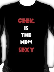 Geek is the New Sexy - White&Red T-Shirt