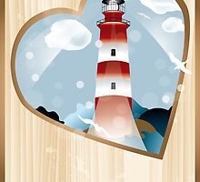 memories - souvenirs (poster with lighthouse) by schtroumpf2510