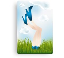 Summer day - legs of the girl Canvas Print