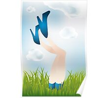 Summer day - legs of the girl Poster