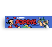 Popeye Arcade Canvas Print