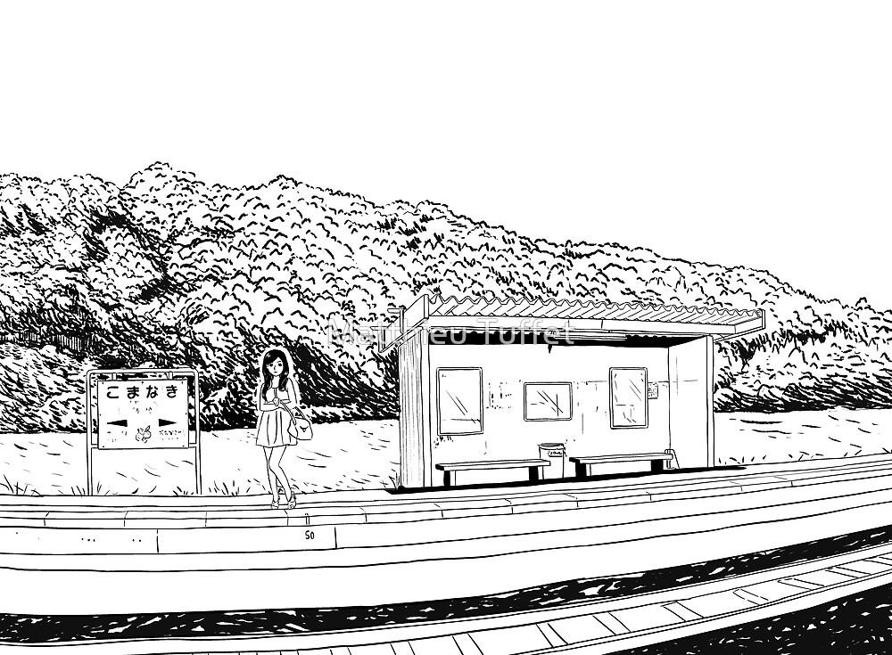 waiting for the train by parisiansamurai