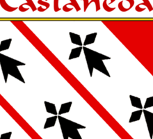 Castaneda Coat of Arms/Family Crest Sticker