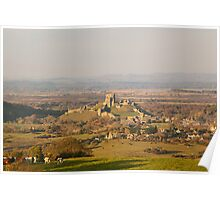 Autumn Days in Dorset - Corfe Poster