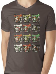 Folded Brompton Bicycle Mens V-Neck T-Shirt