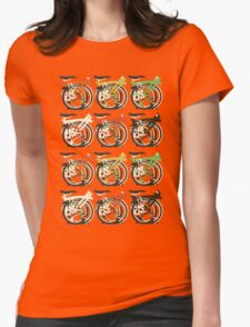 Folded Brompton Bicycle Womens Fitted T-Shirt