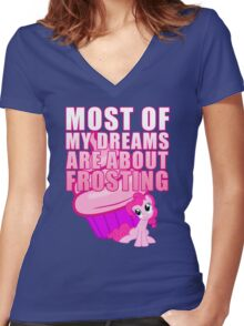 Creamy Frosting Women's Fitted V-Neck T-Shirt