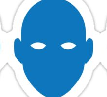Blue Face Men Sticker
