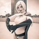 Variable Cosplay - Power Girl (Monochrome) by V Bell
