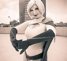 Variable Cosplay - Power Girl (Monochrome) by The Variable