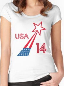 USA STAR Women's Fitted Scoop T-Shirt