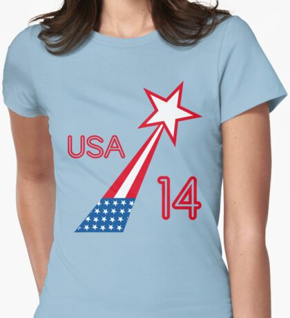 USA STAR Womens Fitted T-Shirt