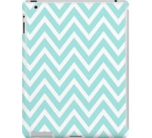 Chevrons, ZigZag Background Blue & White iPad Case/Skin