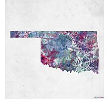 oklahoma map cold colors Photographic Print