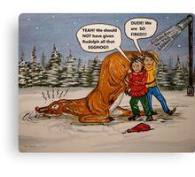 Drunk Rudolph Canvas Print